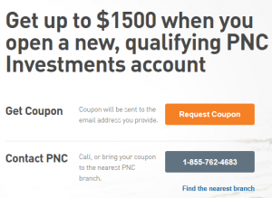 PNC Investment Account Promotion: Up to $1,500 Bonus (OH, MI