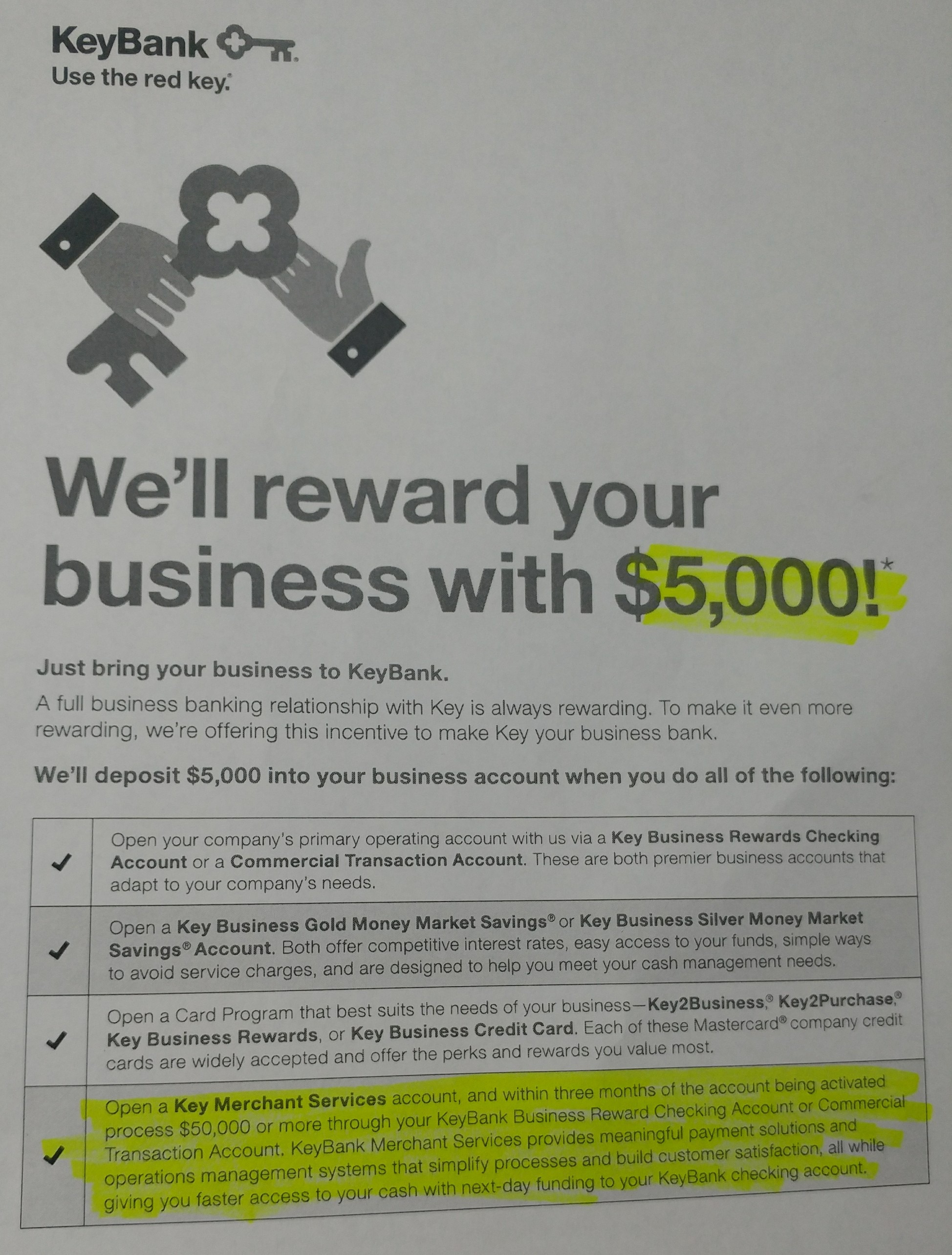 KeyBank Business Relationships Promotion: $5,000 Bonus (AL, CO, CT ...