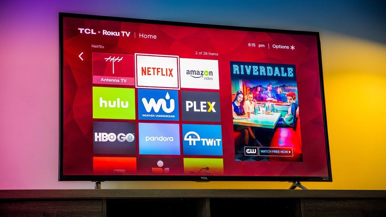 TCL 55-Inch 4K Ultra HD Roku Smart LED TV via Amazon