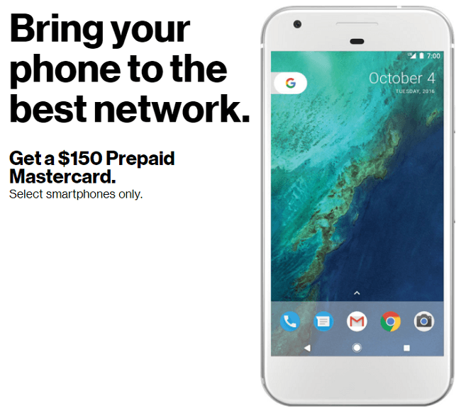 Verizon Bring Your Own Device Promotion: Get A $150