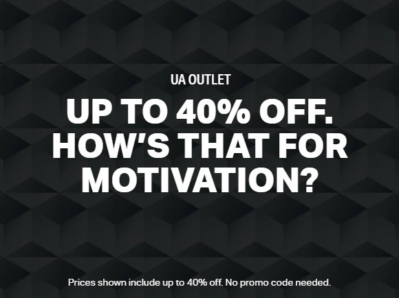Under armour outlet coupons 2018