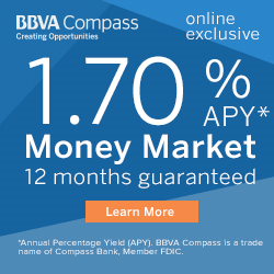 bbva compass clearchoice money market account 1 70 apy