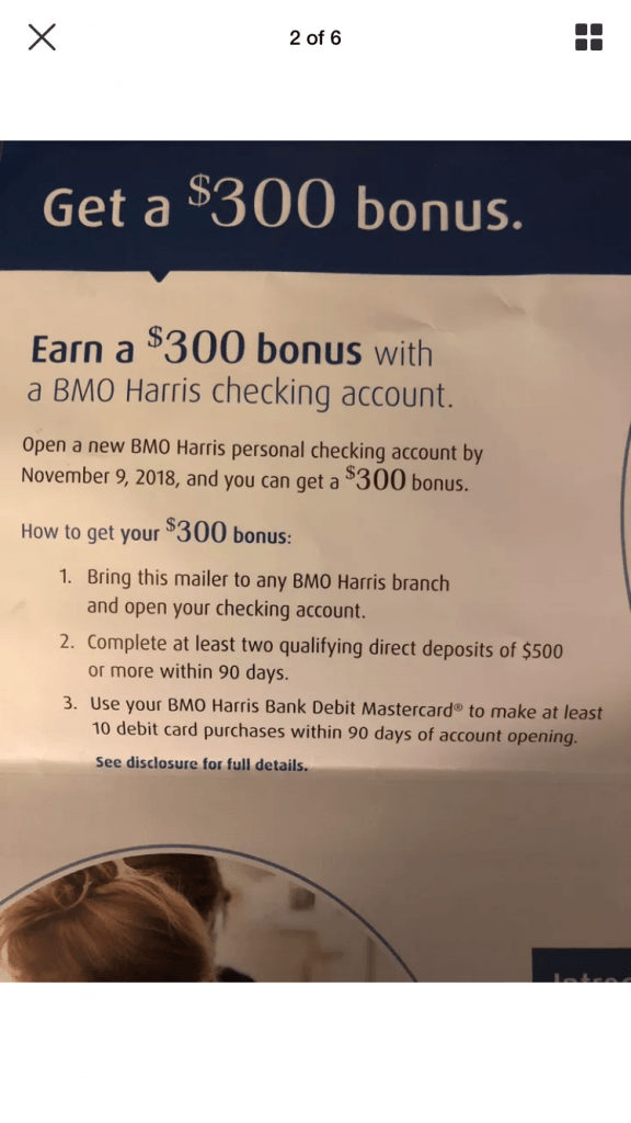 Bmo Harris Bank Checking Bonus 300 Promotion Az Fl Il