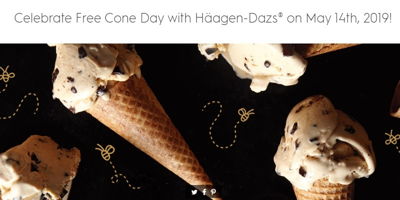 Haagen Dazs Free Cone Day Promotion