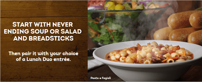 how to get lunch duos starting at 699 visit your local olive garden - Olive Garden Lunch