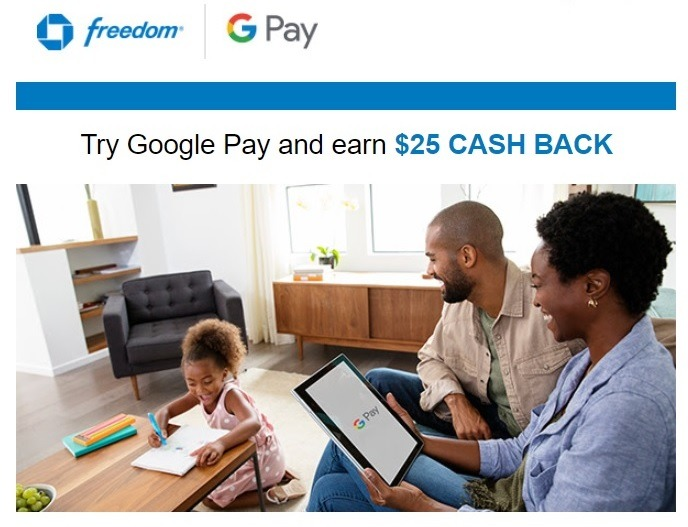 Chase Google Pay Promotion: