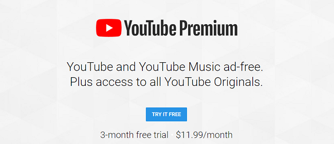 YouTube Premium Promotion: Free 3-Month Trial (YouTube Red + Google