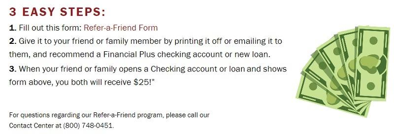 Financial Plus Credit Union Referral Promotion