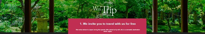Japan Airlines Free Flights Promotion