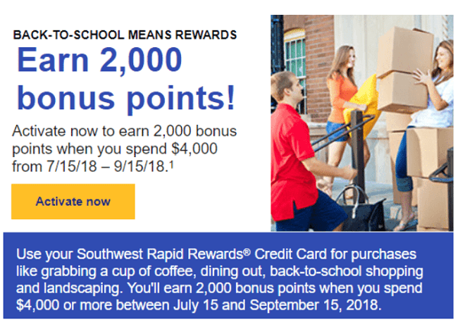 Southwest credit card promotion : Promo code next first order
