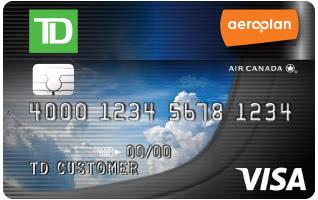 Td Aeroplan Visa Signature Credit Card Promotion 25000 Bonus Miles
