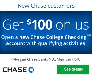 coupon for chase student checking account