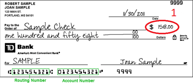 how to write dollars and cents on a check
