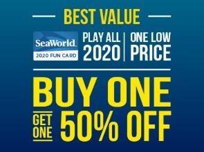 sea world bogo 50 percent off fun card promotion