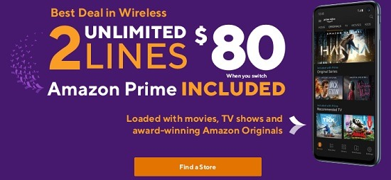 Metro Currently has a promotion where you can get 2 unlimited lines for $80