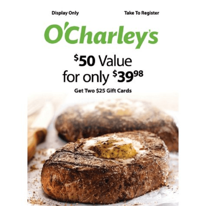O'Charley's Gift Card Promotion