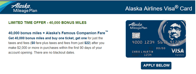 Bank Of America Alaska Airlines Visa Credit Card Bonus