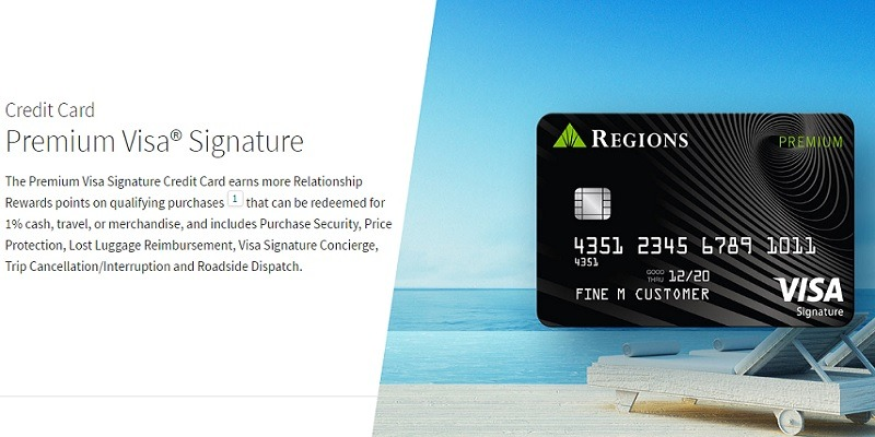 Regions Premium Visa Signature Credit Card 30,000 Bonus Points