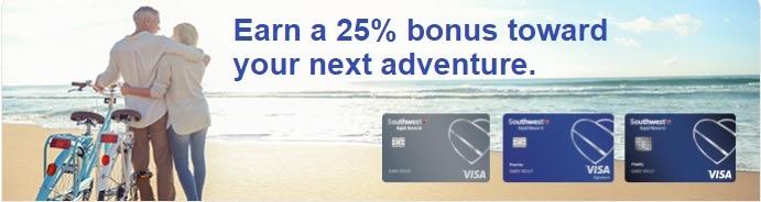 25% Bonus Chase Southwest