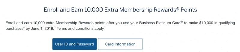 American Express Business Platinum Cardholder Promotion