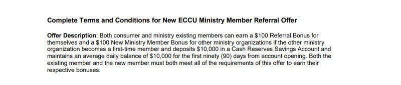 Evangelical Christian Credit Union Promotion