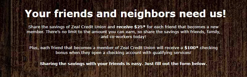 Zeal Credit Union Promotion
