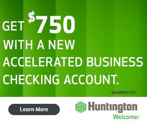 huntington accelerated 750 bonus promotion coupon promo code offer