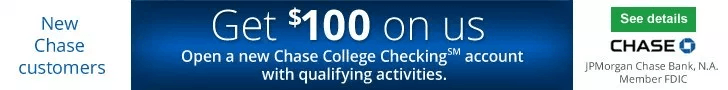 Chase College Checking Bonus Coupon