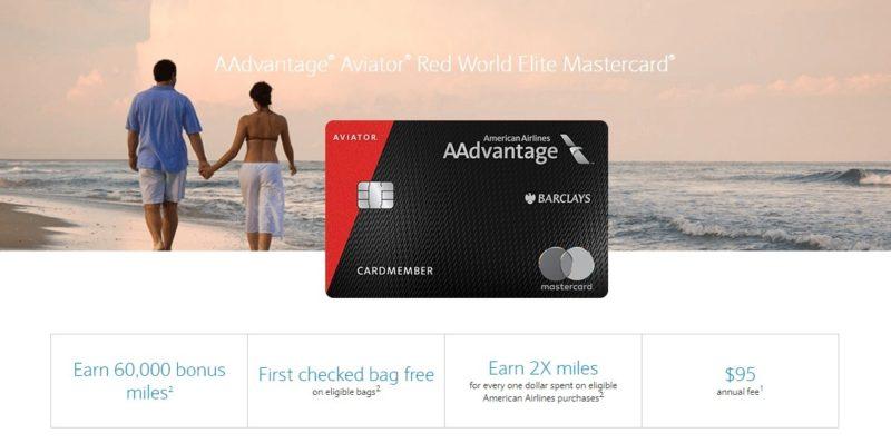 Barclays AAdvantage Aviator Red World Elite Mastercard Promotion