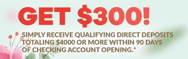 Washington Savings Bank $300 Promotion