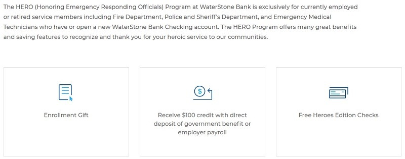 WaterStone Bank Promotion