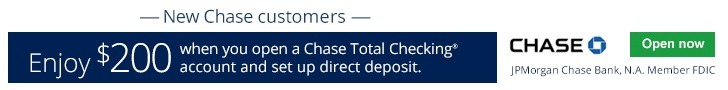 Chase Total Checking Bonus Coupon