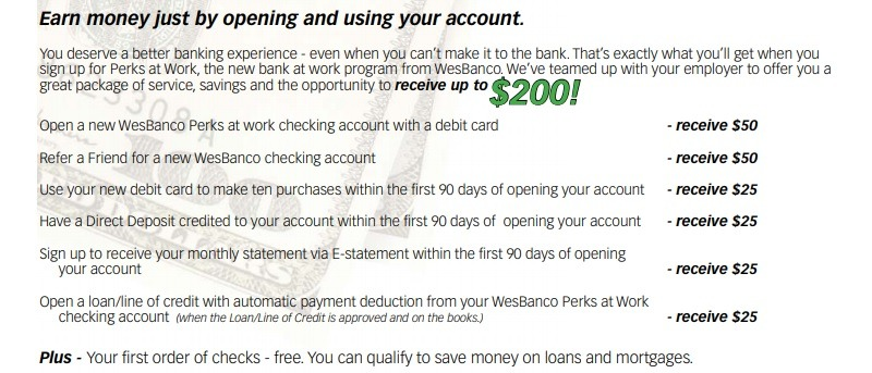 Wesbanco Bonus