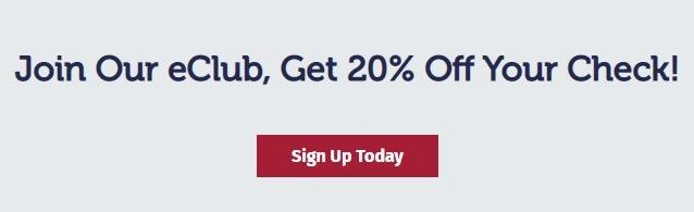 Get 20% Off w/ eClub Enrollment