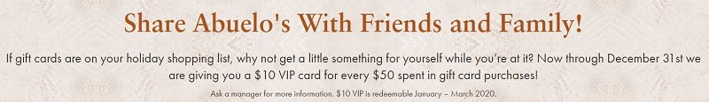 abuelos gift card promotion