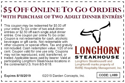 longhorn coupons 2019
