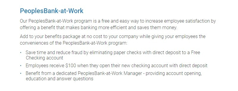 PeoplesBank Promotion