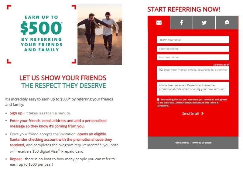 Santander Bank Promotion