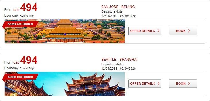 Round-Trip Flights To China Starting At $494