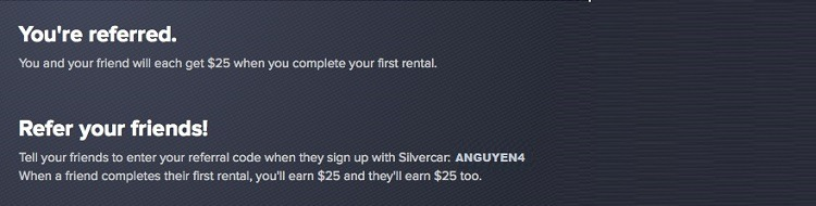 Silvercar Promotions