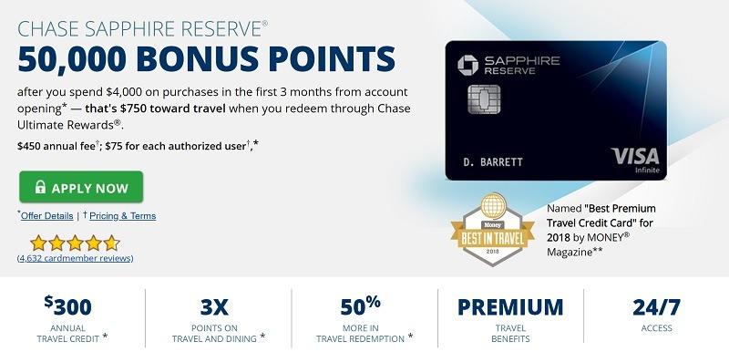 Chase Sapphire Reserve Card 50 000 Bonus Points 1000 Value