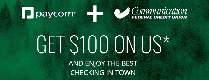 Communication Federal Credit Union Promotion