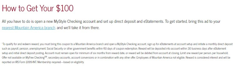 Mountain America Credit Union Promotion