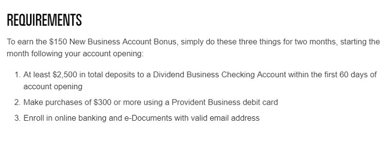 Provident Credit Union Business Promotion