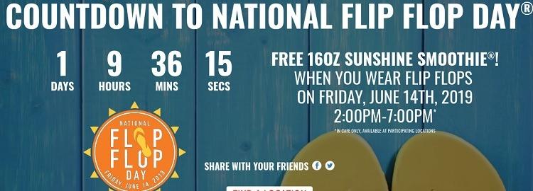 National Flip Flop Day Promotion