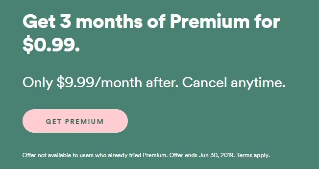 Spotify Premium Subscription Promotion