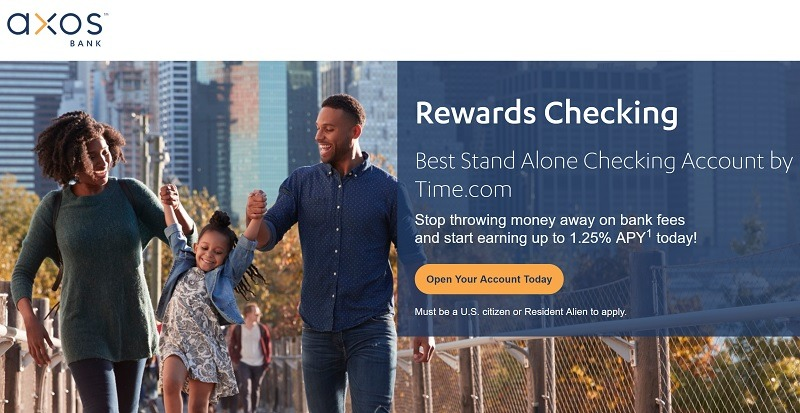 Axos Bank Rewards Checking account