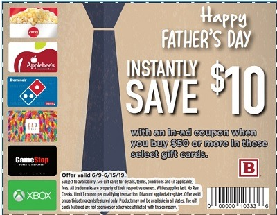Bartell Drugs Promotions: Save $10 Off Select $50 Gift Card Purchase (AMC, Gamestop, Domino's, & More!)