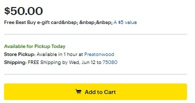 Best Buy Promotions: Free $5 Best Buy Gift Card w/ $50 Bass Pro Shops GC Purchase