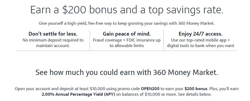 Capital One 360 Promotions September 2019: $100, $200, $500